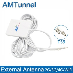 4g lte pannel antena wifi 4g antena 3m ts9 sma macho crc9 conector para huawei 3g 4g lte roteador modem zte roteador aéreo