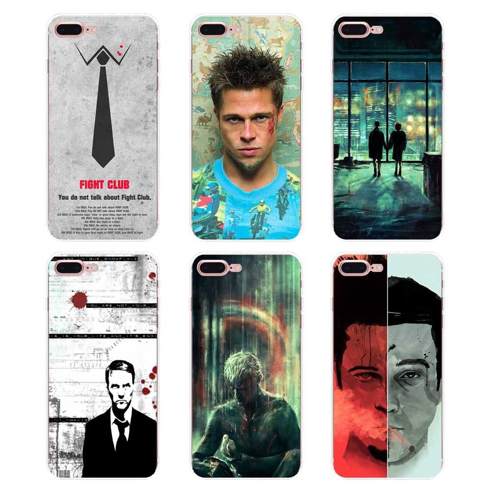 Стильный мягкий чехол из ТПУ Fight Club Brad Pitt для samsung Galaxy S2 S3 S4 S5 MINI S6 S7 edge S8 S9 Plus Note 2 3 4 5 8 Coque Fundas