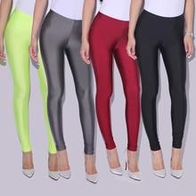 CUHAKCI Female Pants Leggins Women Slim Spandex Leggings Solid Candy Color Neon Adventure Time Skinny High Elastic