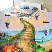 شحن مجاني مخصص الساحلية سلم النفط اللوحة ذاتية اللصق الطابق جدارية نوم مطعم فندق خلفية مخصصة