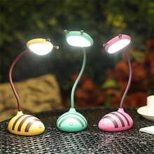 Creative Smart Touch Bee Shape Night Light LED Light USB Charging Table Lamp Reading Lamp Eye Protection Led Lamp все цены