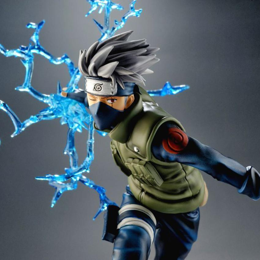22cm Cool Naruto Kakashi Sasuke Action Figure Anime puppets Figure PVC Toys Figure Model Table Desk Decoration Accessories japanese anime figures 23 cm anime gem naruto hatake kakashi pvc collectible figure toys classic toys for boys free shipping