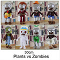 NEW ARRIVAL 30CM 12'' Plants vs Zombies Soft Plush Toy Doll Game Figure Statue Baby Toy for Children Gifts Free Shipping HT3031