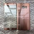 5 pcs original novo para samsung galaxy s7 edge g935 g935f frente lente de vidro da tela + tampa da bateria rosa/azul/preto/branco/prata