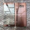 5 unids nuevo original para samsung galaxy s7 edge g935 g935f pantalla frontal lente de cristal + cubierta de la batería color de rosa/azul/negro/blanco/plata
