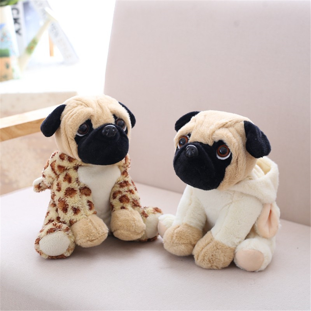 20CM Stuffed Simulation Dogs Plush Sharpei Pug Lovely Puppy Pet Toy Plush Animal Toy Children Kids Birthday Christmas Gifts in Party Favors from Home Garden