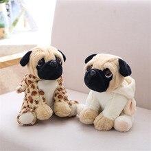 20CM Stuffed Simulation Dogs Plush Sharpei Pug Lovely Puppy Pet Toy Animal Children Kids Birthday Christmas Gifts