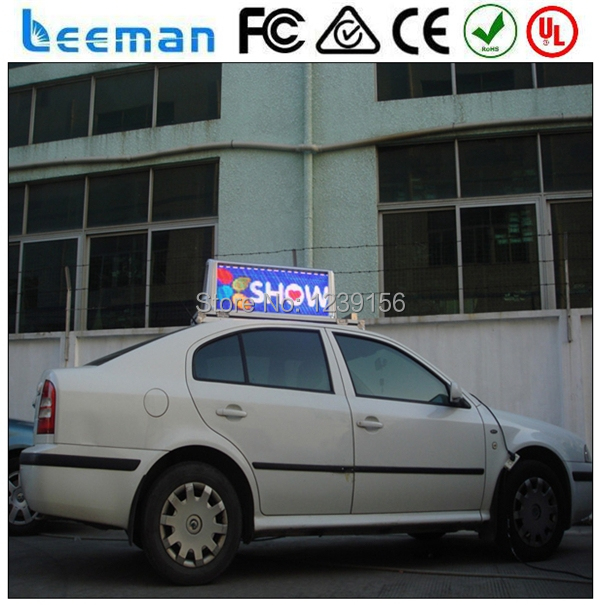Leeman 3G P5 Double Side High Brightness Led Taxi/car Top/roof Advertising  Signs Advertiser Full Color HD Taxi Roof Top Light In LED Displays From ...