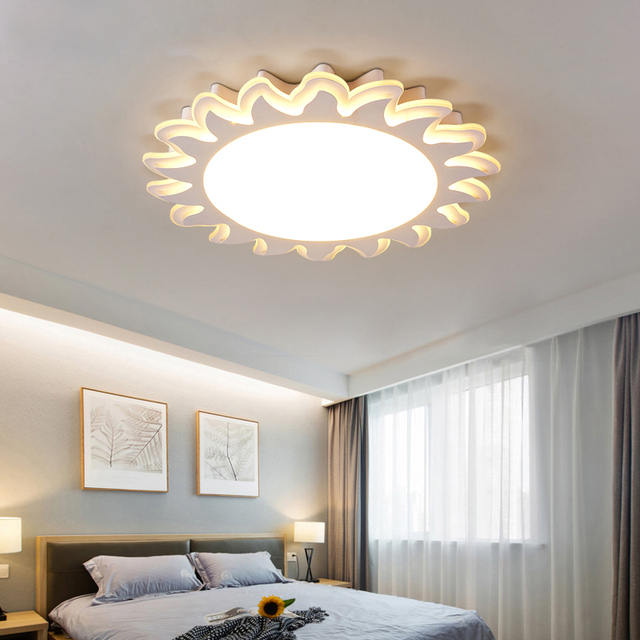 Merveilleux Plafonniers Solaires Fille Garçon Led Soins Oculaires Chambre éclairage  Chaud Et Simple Moderne En Forme De