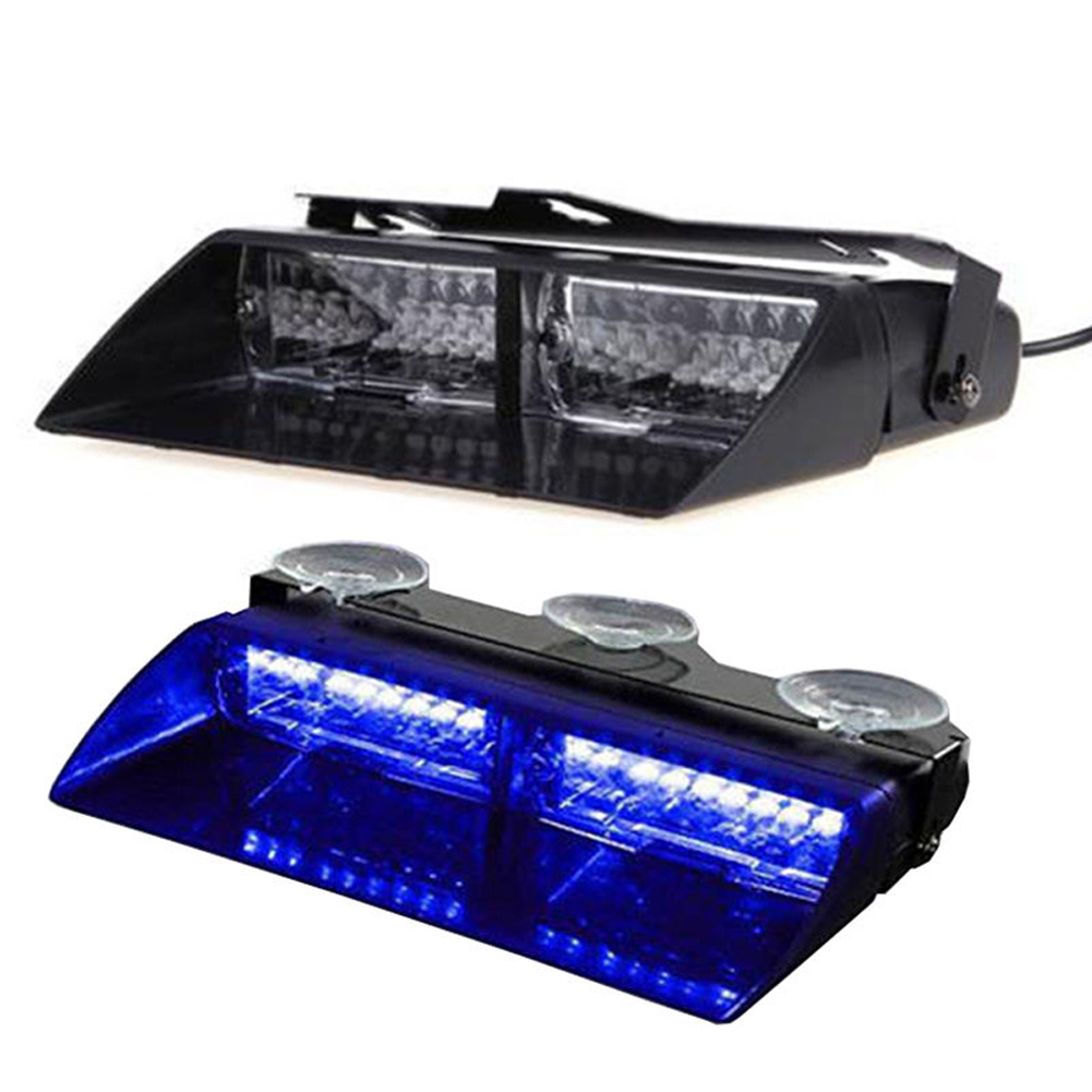 Auto-Styling 16 LED Polizei Strobe Licht 12V Automobile Automotive Dash Emergency 18 Blinkalarm Blinklampe Farbton Blau Farbe
