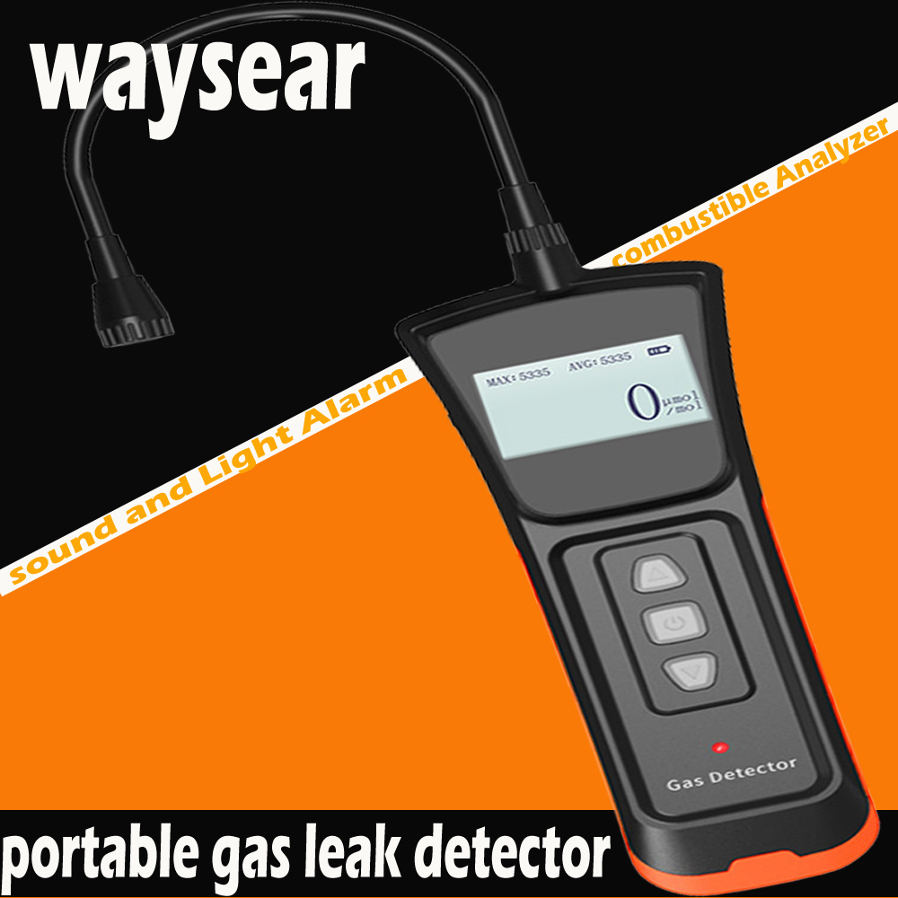Portable gas leak detector,combustible Analyzer detector sound and Light Alarm Natural gas / Liquefied gas leak Leakagemeter official peakmeter pm6310 high accuracy combustible gas leak detector analyzer meter with sound light alarm analizador de gases