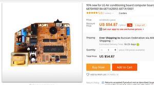 Image 2 - 95% new for  board computer board circuit board 6870A90018A 6871A20055 6871A10001