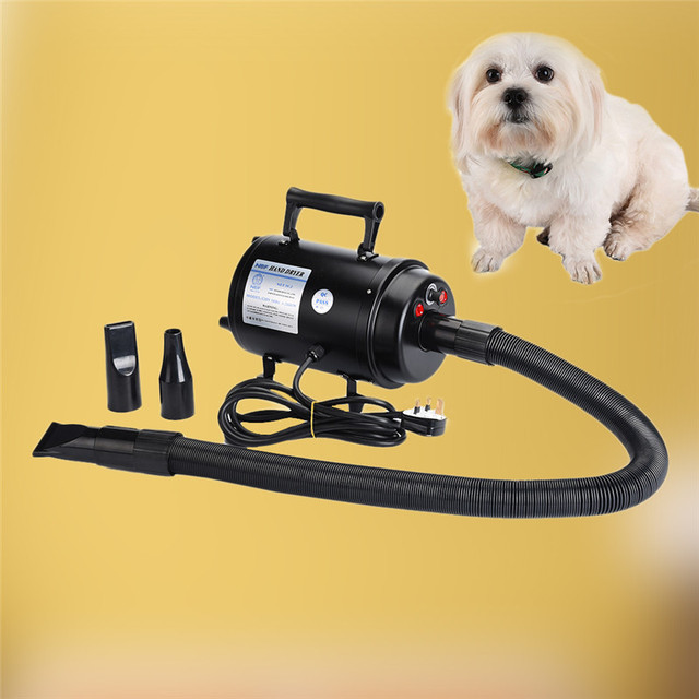 EU/US/UK Plug Dog Cat Pet Force Dryer With Heater Quiet Hair Dryer With Nozzle Grooming 200-240V 2800W Pet Dryer