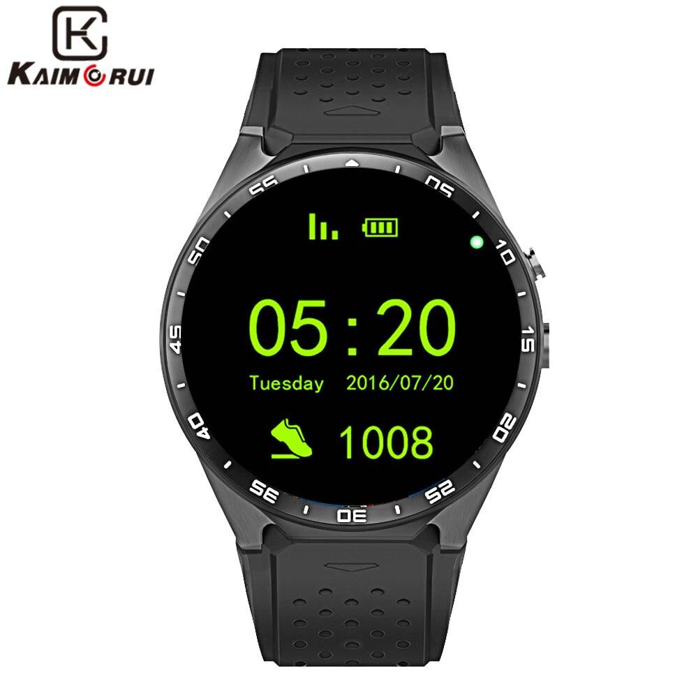 Kaimorui KW88 Montre Smart Watch Android 5.1 IOS 1.39 IPS Écran OLED 512 mb + 4 gb Smartwatch Soutien SIM carte GPS WiFi Appel Rappel