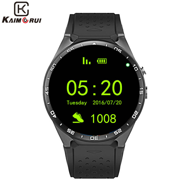 "Kaimorui KW88 Смарт-часы Android 5.1 IOS 1.39 ""IPS OLED Экран 512 МБ + 4 ГБ SmartWatch Поддержка SIM карты GPS, Wi-Fi напоминание"