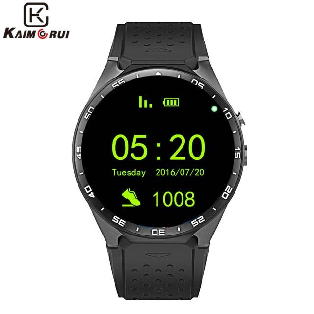 "Kaimorui KW88 Смарт-часы Android 5.1 IOS 1.39 ""IPS OLED Экран 512 МБ + 4 ГБ SmartWatch Поддержка SIM карты GPS, Wi-Fi напоминание"