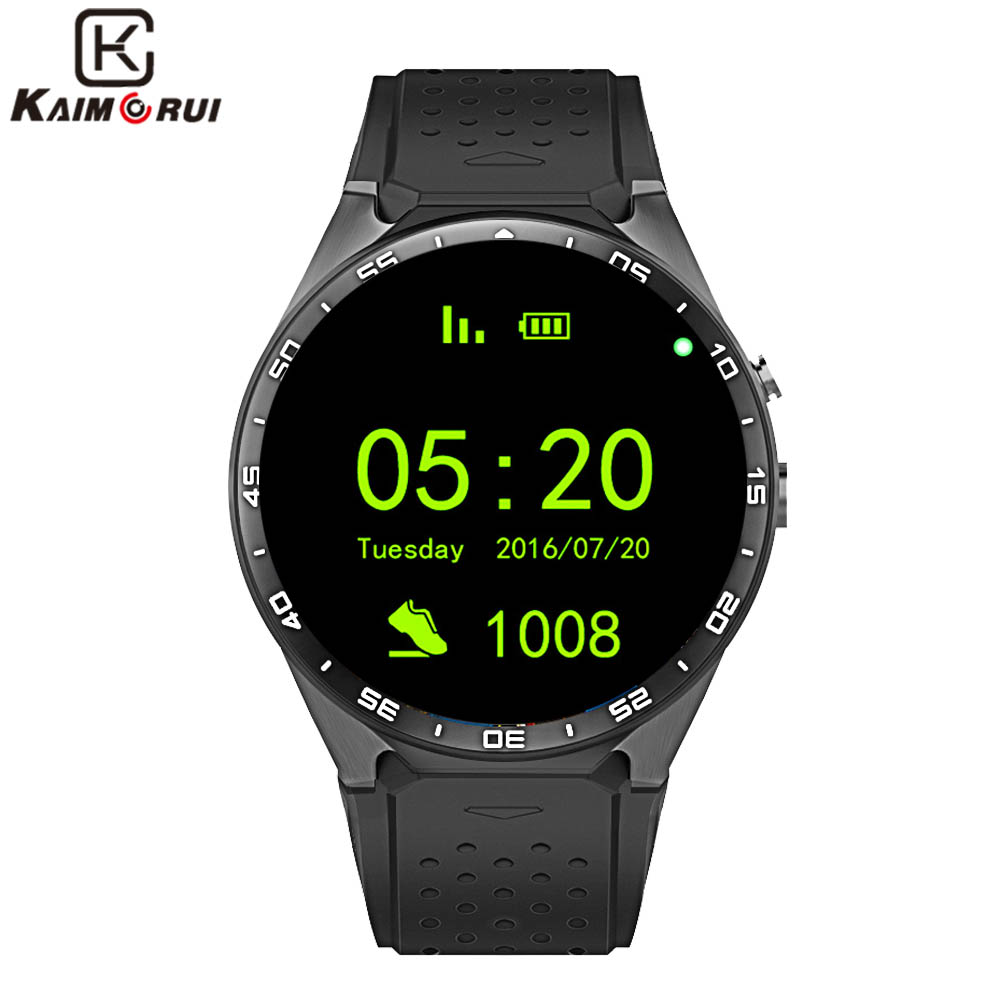 Kaimorui KW88 Montre Smart Watch Android 5.1 IOS 1.39 IPS Écran OLED 512 mb + 4 gb Smartwatch Soutien SIM carte GPS WiFi Appel Rappel