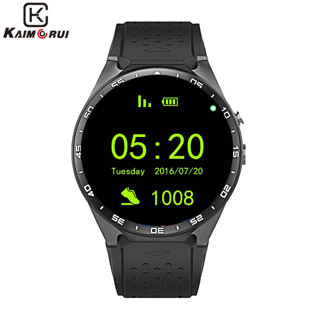 """Prix pour Kaimorui kw88 smart watch android 5.1 ios 1.39 """"IPS écran OLED 512 MB + 4 GB Smartwatch Soutien SIM carte GPS WiFi Appel Rappel"""