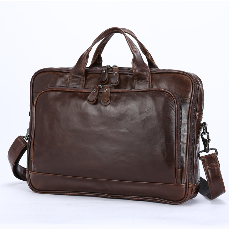 crazy horse Men Messenger Bag Male Handbag Briefcase Document business Handbag Genuine Leather Shoulder Office Bags Men Designer joyir men briefcase real leather handbag crazy horse genuine leather male business retro messenger shoulder bag for men mandbag