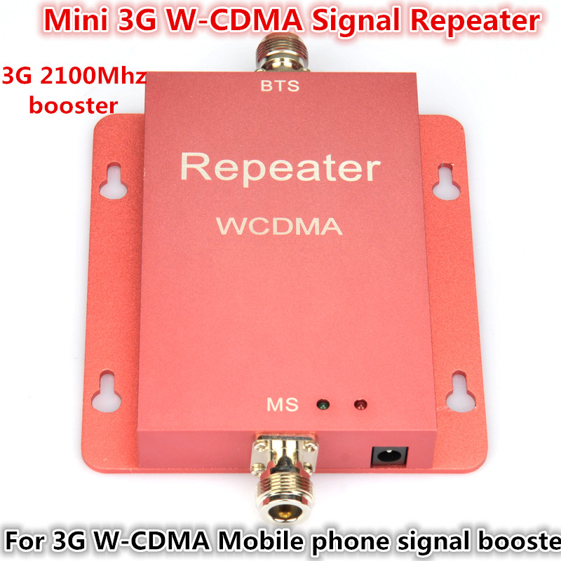 New Mini 3G WCDMA 2100mhz 2100 60db Mobile Phone Cell Phone Signal Booster Enhancer Repeater Amplifier Cover 500m2