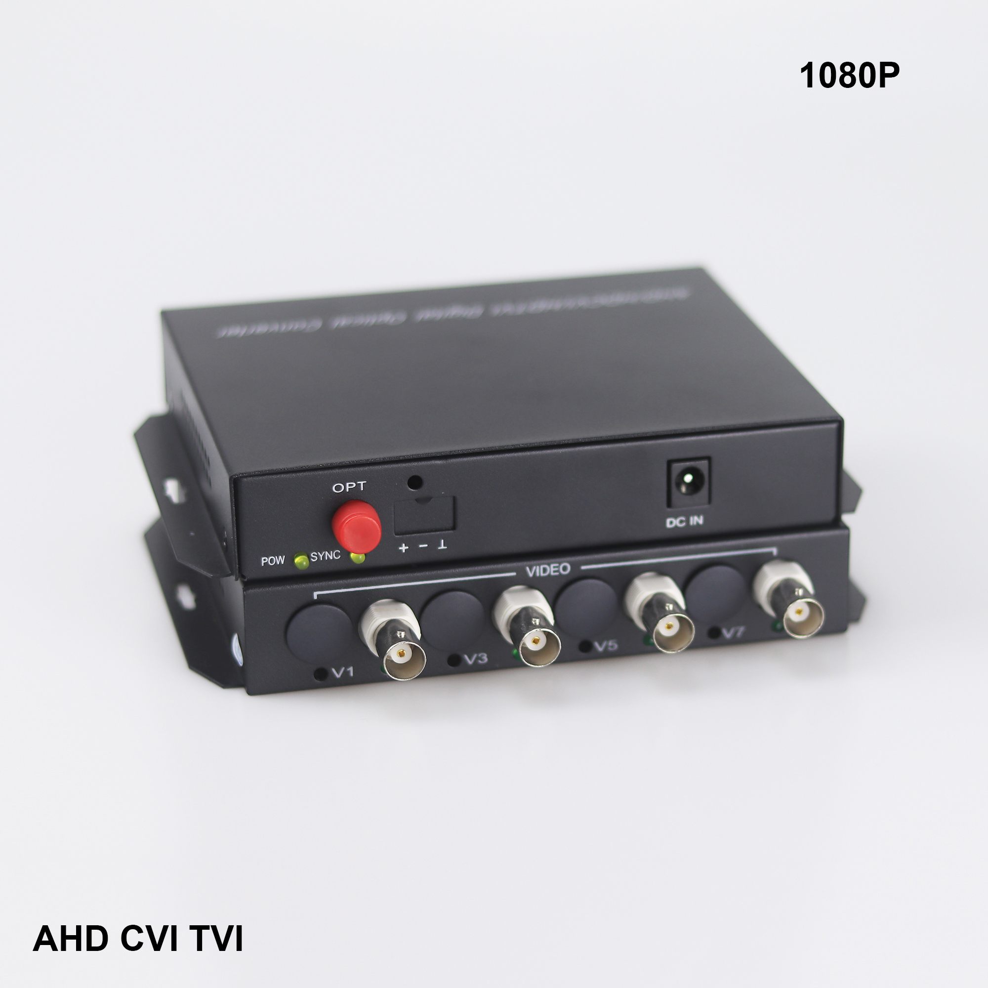 4 CHannel AHD CVI TVI 1080P video Fiber optical converter Hikivsion dahuacamera FC fiber optic transmitter 4 channel video optical converter fiber optic video optical transmitter receiver 4ch rs485 data ahd cvi tvi cvbs coaxial fiber