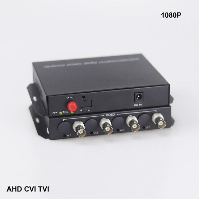 4 CHannel AHD CVI TVI 1080P video Fiber optical converter  Hikivsion dahuacamera FC fiber optic transmitter