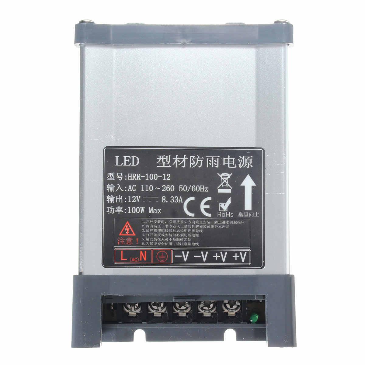 Smuxi IP65 AC 100 V-264 V do DC 12 V 100 W przełączania sterownik LED adapter zasilania do taśmy LED światła