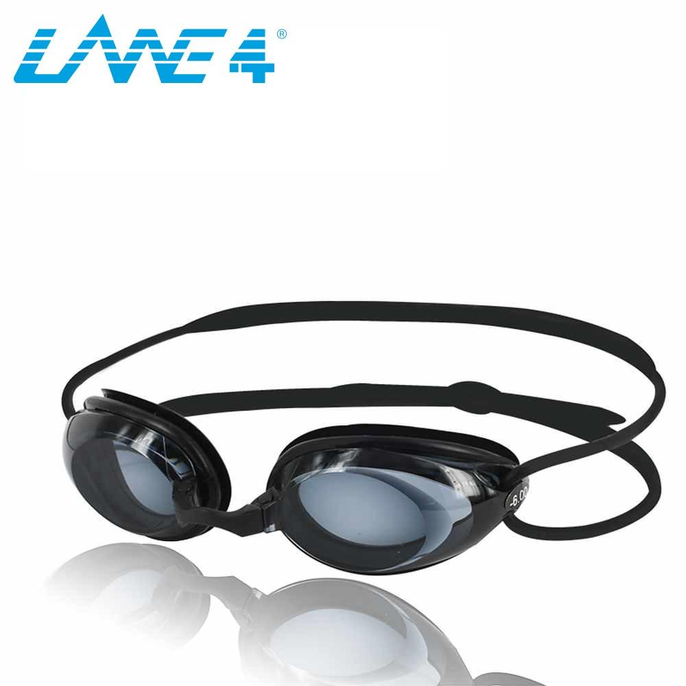 27bf8e5de57 LANE4 Optical Swim Goggle Hydrodynamic Profile Frame Silicone Seals Anti-fog  UV Protection for Adults