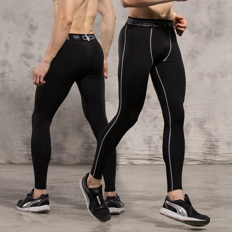 Hommes de Sport Collants de Course De Compression Pantalon Gris Ligne Leggings  Musculation et de Fitness de Sport Très Compétitif Prix dans Collants  Running ... 605f0fb9eca