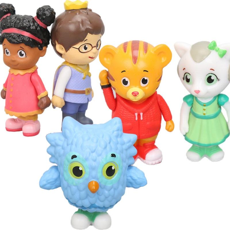 US $8.94 20% OFF|Packung 5 stücke Daniel Tiger Neighborhood Freunde Figures  Set Daniel Tiger Prince Elaina Eule Katerina Sammeln Modell Puppen ...