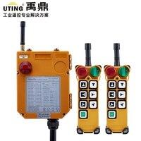 F24-6D endüstriyel kablosuz evrensel radyo uzaktan kumanda gezer vinç radyo uzaktan kumanda 2 verici ve 1 alıcı