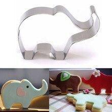 1 шт. Cookie Mold Нержавеющая сталь слон Форма Торт помадка формы Cookie Cutter Кухня Интимные аксессуары