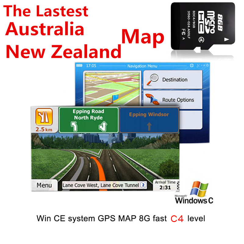 8GB Micro SD Map Card 2019 Australia New Zealand Map For WCE System Car Auto GPS Navigation