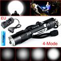 Waterproof 800 Lumens 4 Modes LED Cree XML-L2 Outdoor Pocket Flashlight Torch+Charger+1x18650 battery Set