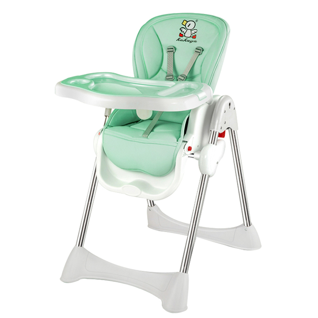 4in1 Falten Baby Feed Stuhl Tragbare Baby Esstisch Höhe Anpassen