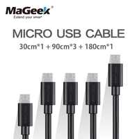 [5-Pieces] MaGeek Micro USB Cable 0.3m / 0.9m x 3 / 1.8m Fast Charge Mobile Phone Cables for Samsung LG Huawei Android Phone