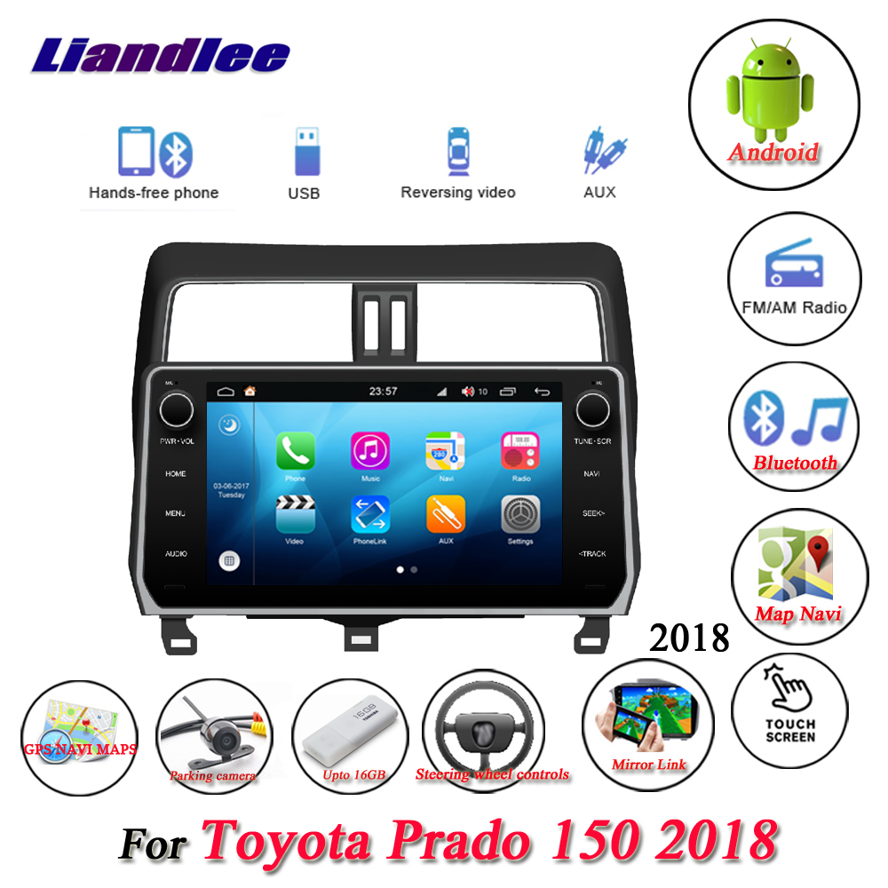 Car Stereo <font><b>Radio</b></font> For <font><b>Toyota</b></font> Prado <font><b>150</b></font> <font><b>2018</b></font> HD Touch Screen LCD Display GPS Map Navi Navigation Multimedia Android System image