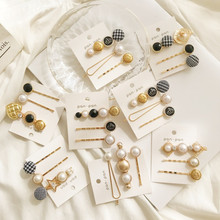 Kymyad 3Pcs/ Set Korea Fashion Metal Hairpins Imitiation Pearl Beads Hair Clips Bobby Pin Barrette Hairpin Accessories