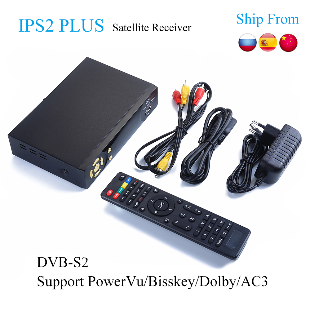 5pcs IP-S2 Plus Best HD 1080P DVB-S2 Satellite Receiver +USB WiFi Support Dolby PowerVu Biss Key IKS dvb-s2 Satellite Receptor new hartman hemostatic mosquito forcep with teeth ophthalmic surgical instruments