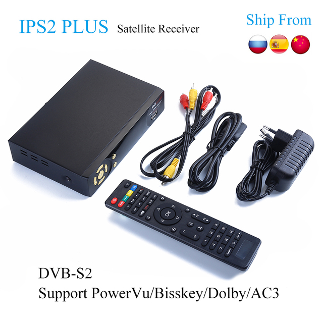 5pcs IP-S2 Plus Best HD 1080P DVB-S2 Satellite Receiver +USB WiFi Support Dolby PowerVu Biss Key IKS dvb-s2 Satellite Receptor