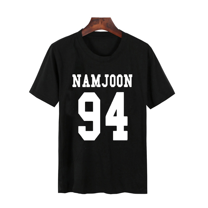 Vsenfo Bts Namjoon T-Shirt Women Cotton Short Sleeve Aesthetically Tumblr WomenS T-Shirt Camiseta Feminina Top Female