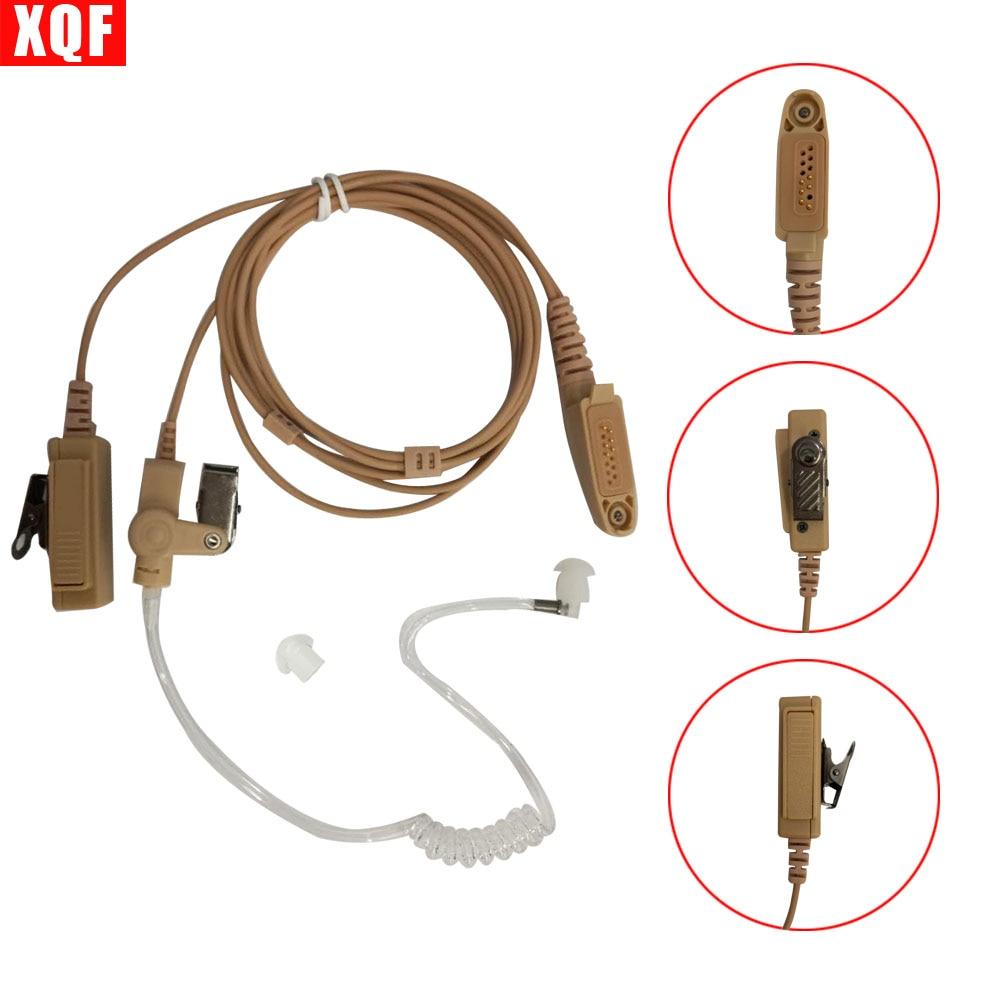 XQF Beige Flesh Color Covert Acoustic Tube Earpiece Headset Mic For Motorola GP328Plus GP344 GP388 GP688 Two Way Radio