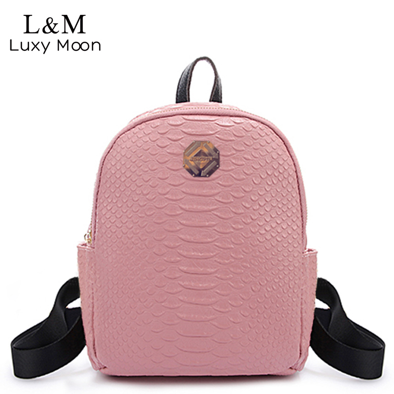 2017 Girls Cute Small Backpack Women Fashion Alligator High Quality PU Leather Daily Multifunction Shoulder