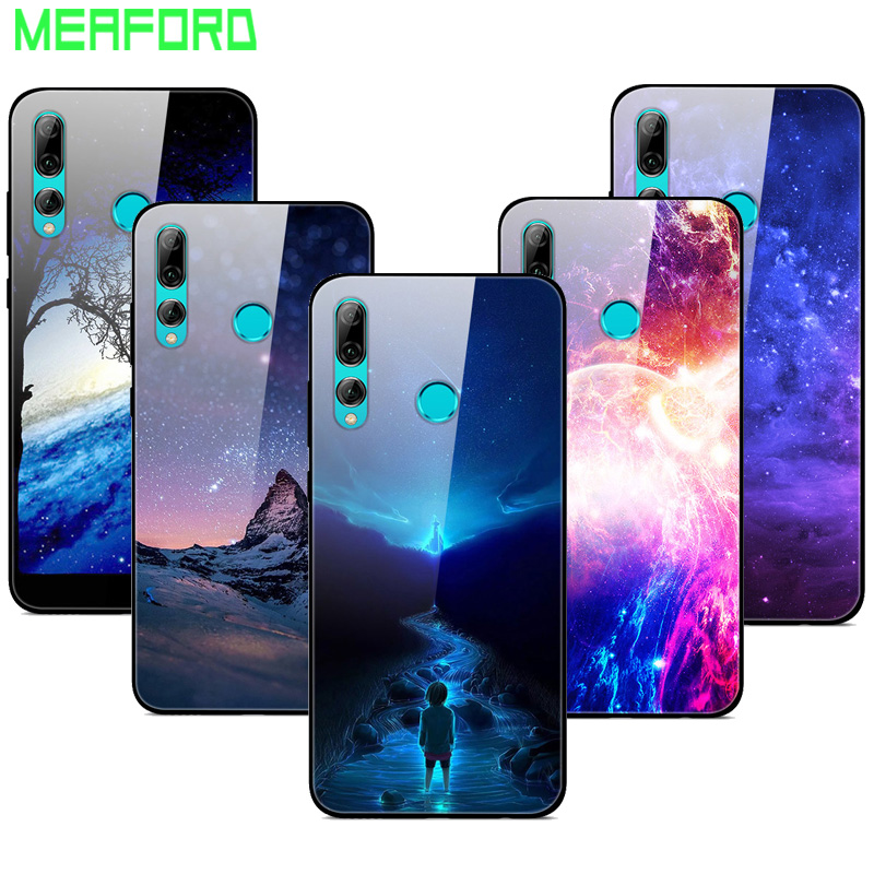 For Huawei Honor 10i Case Tempered Glass Planet Space Cover Glass Back Case For Huawei Honor 10i 10 I Honor10i HRY-LX1T Coque