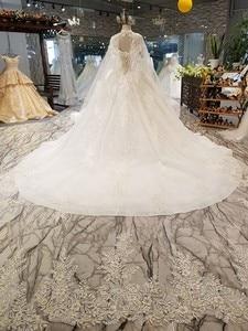 Image 2 - LS54799 ยาว Cape งานแต่งงานชุดสร้อยคอ off ไหล่ sweetheart HOT ขายเจ้าสาวชุดแต่งงาน vestido de noiva blato Baro