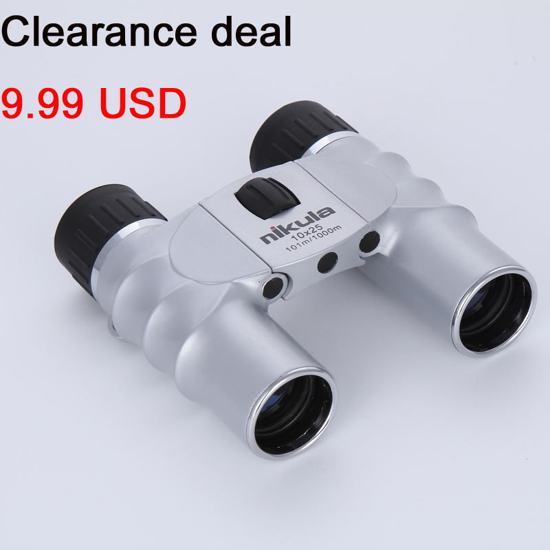 10x25 Binoculars Powerful Zoom Long Range telescopio professional binocular high power scope Folding font b Telescope