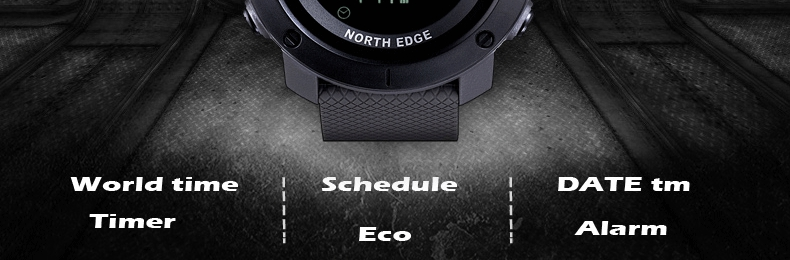 Topdudes.com - NORTH EDGE Top Men's Digital 50M Water Resistant Sports Watch with Stopwatch & Timer for Running Swimming