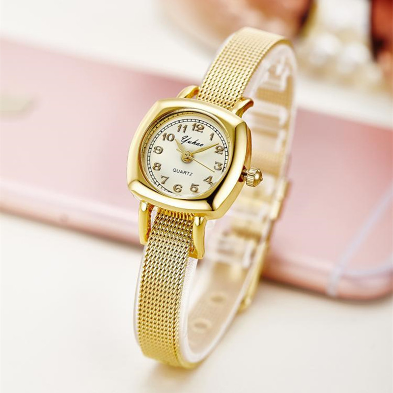 Rose Gold Bracelet Bangle Rhinestone Crystal Watches Ladies Watch Original rectangle Quartz Women Fashion Dress watches AC078