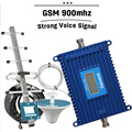 Forte Display LCD Voz 2G GSM 900 Celular Repetidor de Sinal Amplificador 70dB Telefone Móvel Celular GSM 900 mhz Celular Booster