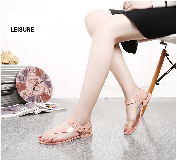 Free Shipping Women Sandals 2016 Summer Bohemia Flat Women Shoes New Fashion Beach Sandals Solid Casual Shoes ST1009 (12)